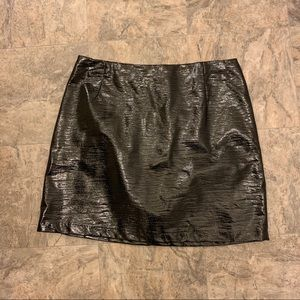 Mini faux leather skirt by H&M
